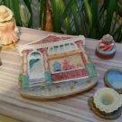 Vintage Popular Imports Polystone Resin 10 Piece Mini Tea Set 'Victorian Cottage' - NIB - RARE!