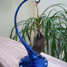 Christopher Radko 'Home For The Holidays Collection' Blue Blown Glass Christmas Ornament Stand!