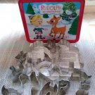 Rudolph The Red-Nosed Reindeer Stand-Up Cookie Cutter Set in Tin Lunch Box!