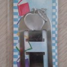 Pewter Apple - Book Mark Clip On by Lindsay Claire Designs - Perfect for Teacher!