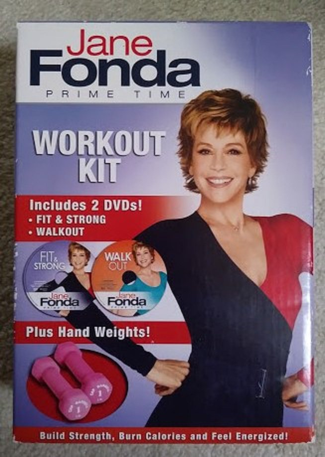 Jane Fonda Prime Time Workout DVD Hand Weights Kit - Unopened from 2010!
