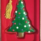 Gorham Christmas Ornament Tree Cookie Crystal Hand Painted - New!