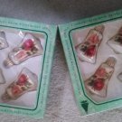 Vintage Christmas by Krebs Hand Decorated Glass Bell Ornaments with Crowns - Beautiful Rose design