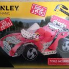 Stanley Racing Car Mechanic Kit, Red, Build & Play, 263 Pieces, Tools Included