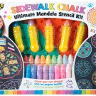 POOF Ultimate Chalk Mandala Stencil Kit - 43 Piece - Create Your Own Designs!