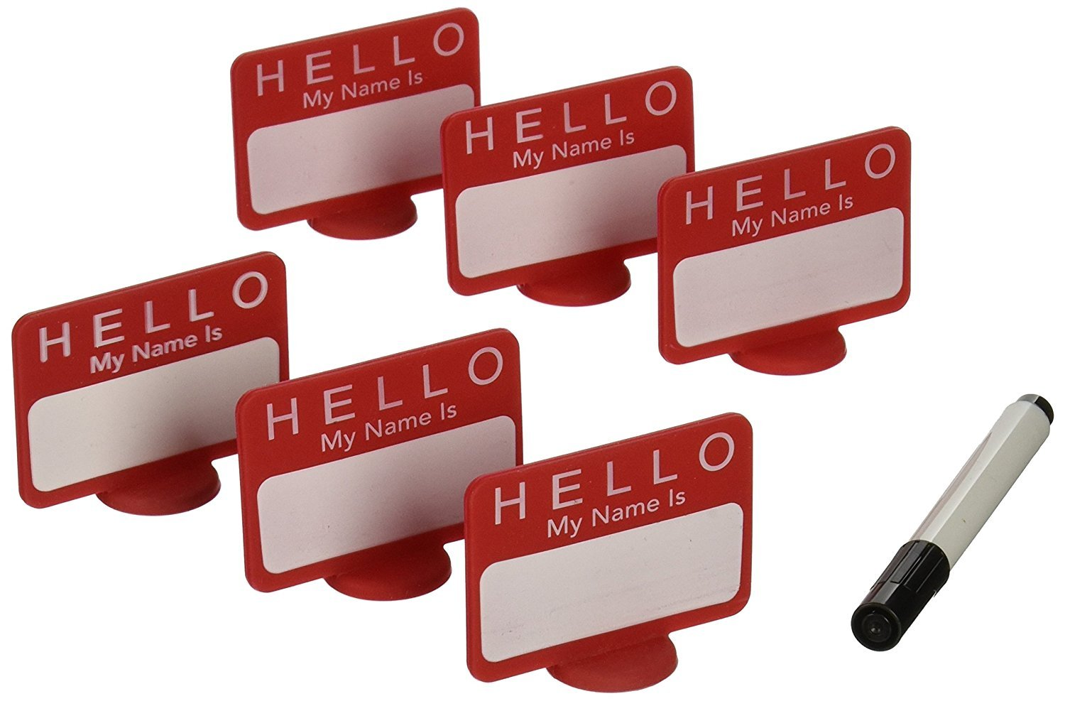 DCI Name Tags Reusable Place Cards, Set of 6