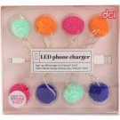 Pom Pom iPhone 5/6/7/8/9/10 Light Up USB Charging Cable by DCI