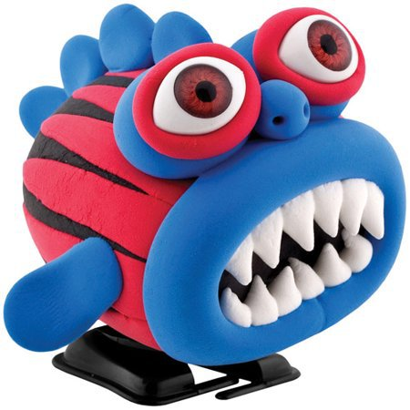 Wizz Worx - 'Make Your Own' Wind-Up Walking Gobbler Monster - Blue