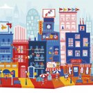 Silly Street - Silly City - Kids 48 Large Piece Jigsaw Puzzle by Buffalo Games