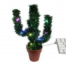 DCI Merry Christmas Cactus with LED Lights - USB Powered - Deck Your Desk!