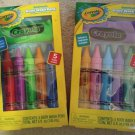 Crayola Bathtub Body Wash Fruity Scent Pens with Washcloth, Assorted Colors 2 Packs of 5 each