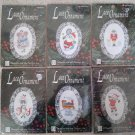 Designs for the Needle Lace Christmas Ornament Counted Cross Stitch Kits - Lot of 6!