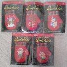 Leisure Arts Christmas Quickies Cross Stitch Ornament Kits - Lot of 5!