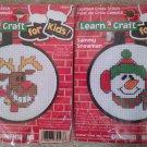 Dimensions Rodney Reindeer & Sammy Snowman Learn Craft Kids Christmas Cross Stitch Patterns
