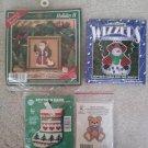 Christmas Counted Cross Stitch Kits Ornament Kits - Lot of 4