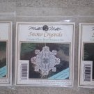 Mill Hill Snow Cystals Christmas Counted Glass Bead Cross Stitch Kits Ornament Kits - Lot of 3