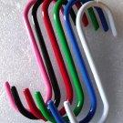 "5"" Heavy Duty S-Hook Set of 6 pcs. - Assorted Colors - Plant Pot Hanging Home Shop Garage"