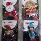 BLINGKS Christmas Novelty Flashing Light Up Jewelry Pins - Lot of 4 - Santa, Angel, Elf & Penguin!