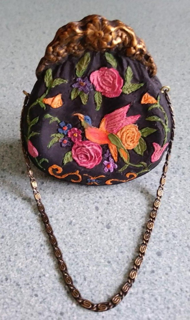 """Just the Right Style """"COTILLION BOX"""" Purse #26408 collectibles miniature bag"""