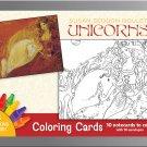 PomegranateKids Susan Seddon Boulet: Unicorns Coloring Card Set in Decorative Tin!