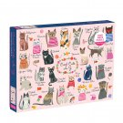 "Mudpuppy Cool Cats A-Z Puzzle, 1,000 Pieces, 27""x20"" – Colorful Illustrations of 23 Cat Breeds"