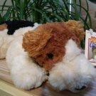 FAO Schwarz Adoption Central Fox Terrier Puppy Dog Stuffed Plush Beanie Animal 12 inch!