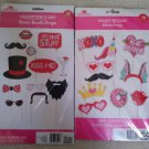 Valentine Days Photo Booth Props - 22 Pcs, Large - Valentines Day Decorations by Way to Celebrate!