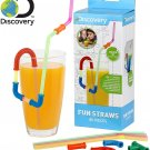 Discovery Fun Straws for Kids, 80 Piece Set, Multi Colored!
