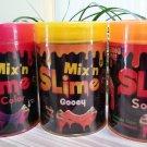 Grin Studios Amazing Mix'n Slime -Lot of 3 -SOLAR Changes Color Under Sunshine,Warm Hands & Gooey!