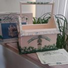 KATHY HATCH COLLECTION Hand Painted Topiary Garden Collection Birdhouse Caddy - New in Box!