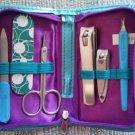 Meijer Women's Personal Care Set, 6 piece in Zippered Case - Blue!