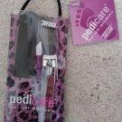 TRIM - Pedicure 4 piece Foot Care Mini Travel Size Kit - Faux Purple Leopard!