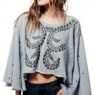 Free People To The Stars Gray Sweater - #OB489189 - Size M - New with Tag!