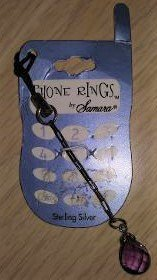 Samara Sterling Silver Phone Rings for Cell Phone - Faceted Purple Stone!