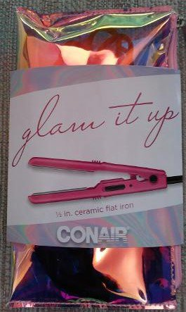 Conair Glam It Up MiniPRO 1/2-inch Ceramic Flat Iron in Pink Iridescent Carry Case!