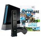 Nintendo Wii Console Black Bundle RVLSKRP2 w/ REMOTE, NUNCHUK & WII MOTION PLUS!