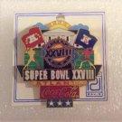 SUPER BOWL 28 XXVIII NFL FOOTBALL PIN ATLANTA COCA-COLA!