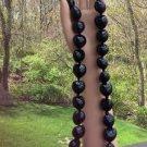 Hawaiian Black Kukui Nuts 'FLYING LIZARD' Necklace/LEI - wear as a BELT TOO!