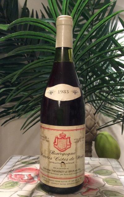 1983 Domaine Thevenot Le Brun & Fils Bourgogne Hautes Côtes de Nuits - BOTTLE OF WINE!