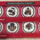 International China 'A Christmas Story' 8 Piece Fine Porcelain Christmas Ornament Set!