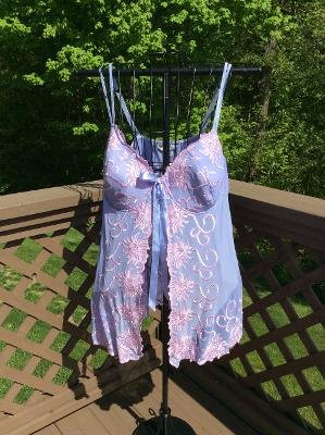 CACIQUE Plus Size Lilac/Pink Babydoll Nightie & Panties - New with Tags!