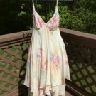 Vintage Victoria's Secret Collection Ivory Floral Handkerchief Hem Negligee - Small - NWT - RARE!
