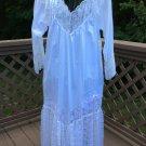 Vintage 80s ENCHANTING Nightgown by Cinzia Fine Lingerie Confection in Cottons & Laces #2  M/L-RARE!