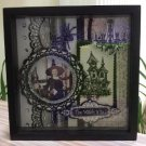The Witch Is In! Shadowbox Picture Photo Frame - Haunted House, Spider, Candelabra & GLITZ!!