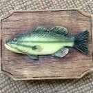 Dezine Largemouth Bass Fish-Themed Hand-Painted Playing Card Box & Card Set!