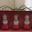 The Vermont Country Store Home Set of 3 Caroler Candles!