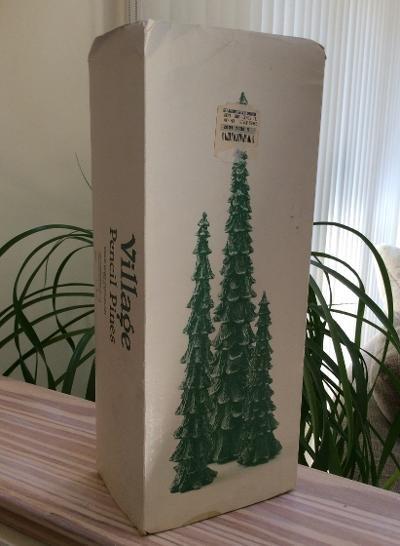 Department 56 Village Pencil Pines Cold Cast Porcelain - Set of 3 - #5246-9!