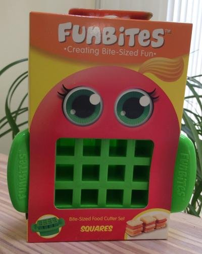 FunBites Food Cutter for Kids, Green Squares by FUNTASTIC!
