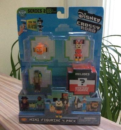 Crossy Road Disney Minnie, Nemo, Cotton & Mystery Figure Mini Figure 4-Pack Series 2 #71009!