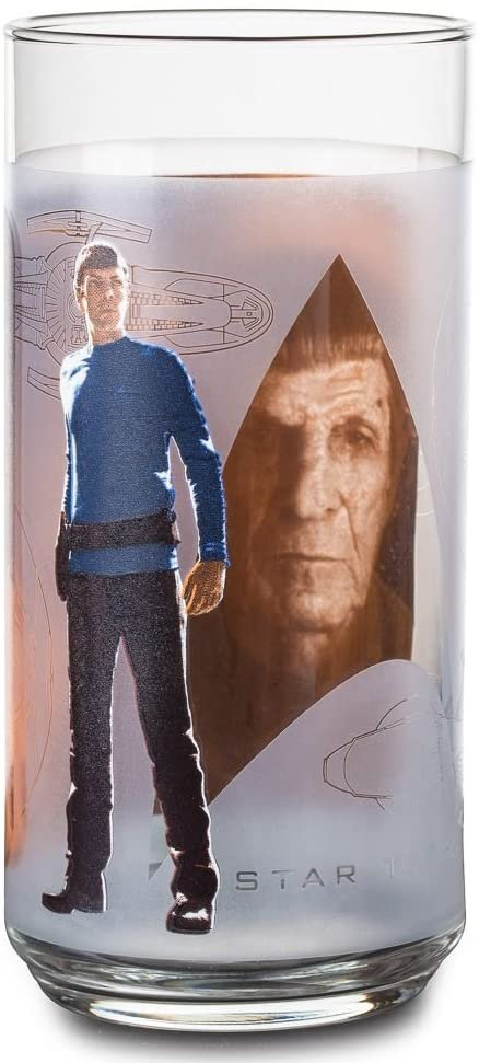 Star Trek Collectible 16 oz. Glass Tumbler 'SPOCK' by Equity Marketing - 2008!